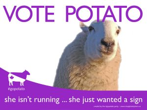 #gopotato campaign sign 2019